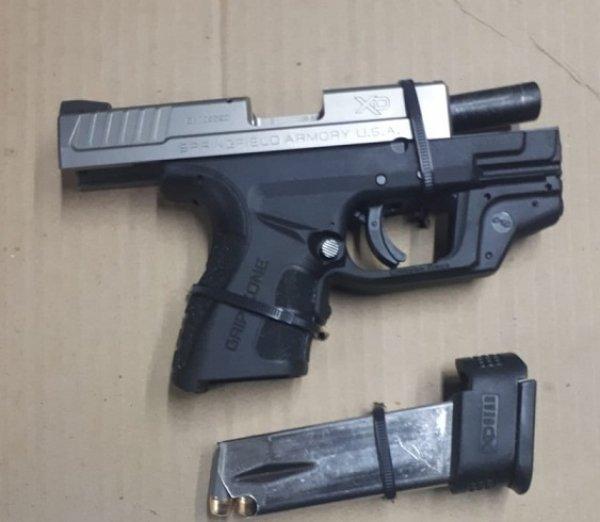 Asegura PESP a dos menores de edad con arma de fuego en SLRC