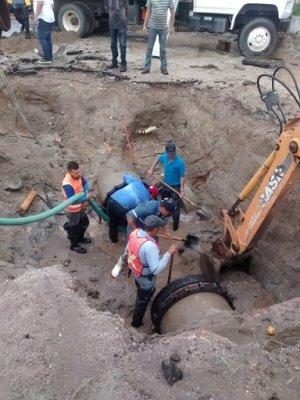 Culminan los trabajos de interconexión de tubería al Sur de la ciudad