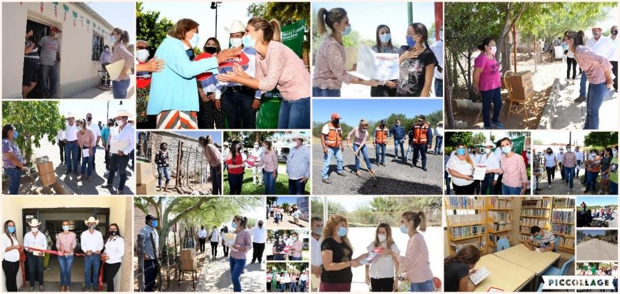 Entrega Gobernadora Pavlovich apoyos en Opodepe, Rayón y Ures