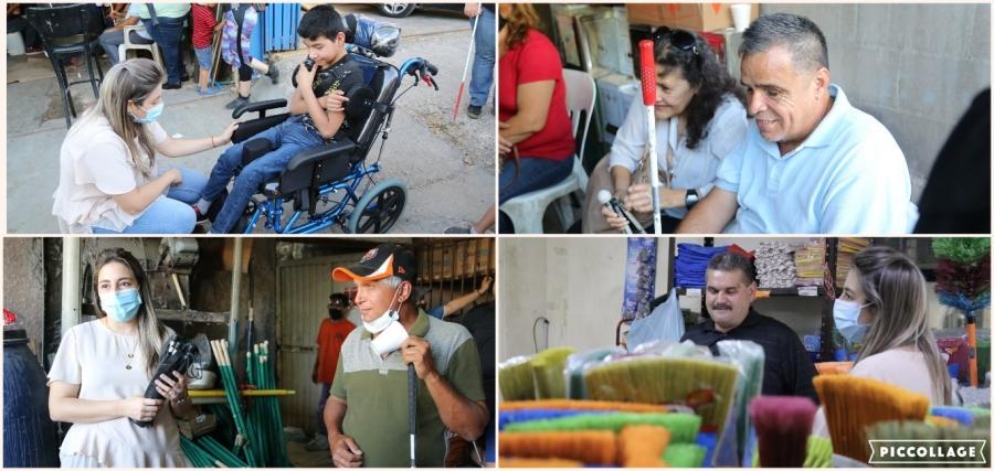 Reciben familias con personas ciegas y débiles visuales, impulso de DIF Sonora