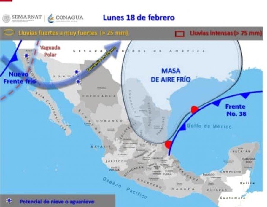 Exhorta Protección Civil a extremar precauciones por posible frente frío No. 39