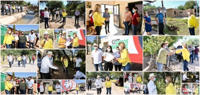 Entrega Gobernadora obras, becas y apoyos a pequeños productores en gira por Bacanora, Arivechi y Sahuaripa