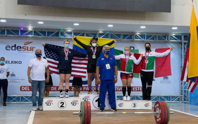 Anacarmen Torres gana tres bronces en Suramericano