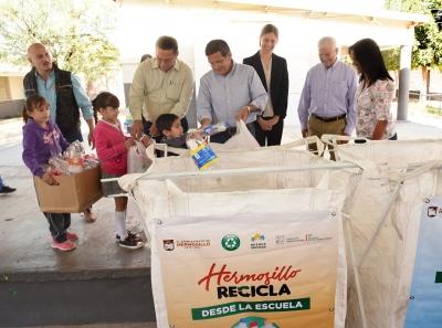 Colabora iniciativa privada con el programa Hermosillo Recicla desde la escuela