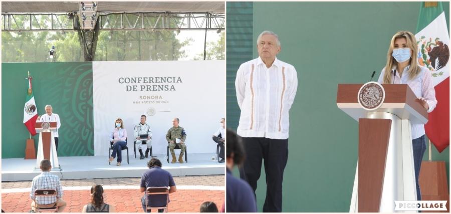 Acuerdan Presidente y Gobernadora coordinación especial por la Seguridad en Sonora