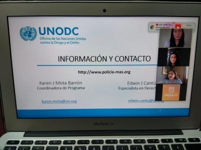 Establece alcaldesa Celida López líneas de colaboración con la Oficina de las Naciones Unidas contra la Droga y el Delito (UNODC)