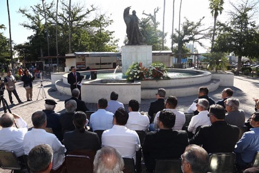 Promueve Gobierno del Estado ideales de Benito Juárez: Víctor Guerrero