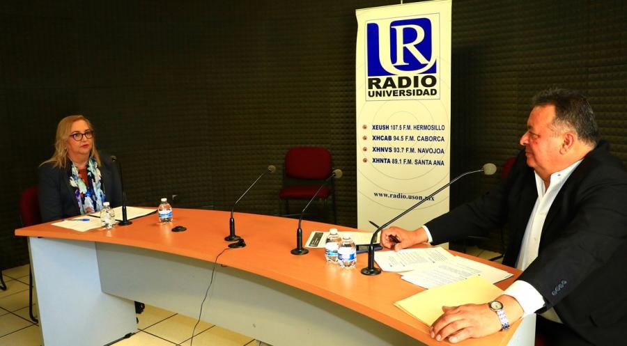 Presenta María Rita Plancarte Martínez, aspirante a la Rectoría, su plan de desarrollo en Radio Universidad