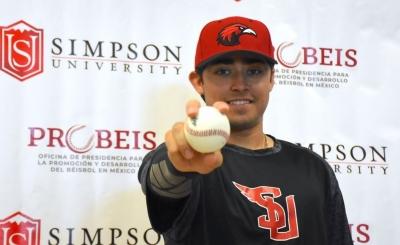 El pelotero sonorense Carlos Valenzuela llegaría becado a Universidad Simpson de EUA